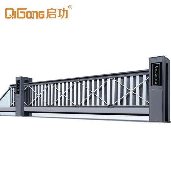 Aluminium Industrial Auto Driveway Sliding Gate Design