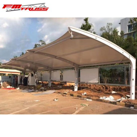 China 15year Guarantee Carport Steel Dome Tensile Membrane Tent China Carport Tent And Garage Tent Price
