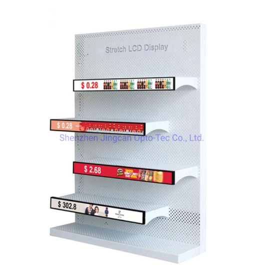 43 Inch Wholesale Stretched Bar LCD Display Monitor Wide Shelf Advertising Screen Digital Signage