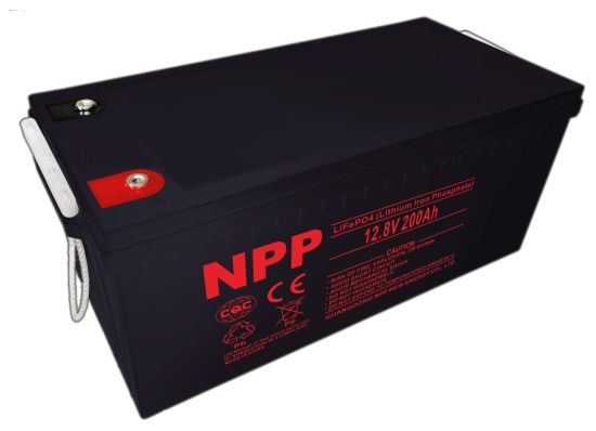 Npp 12V200ah Lithium Ion LiFePO4 Battery Pack for Solar Power System, UPS, Electric Wheelchair, Scooter