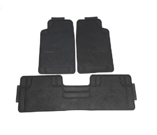 3PC Black Universal Car Van Front &Rear Floor Mats