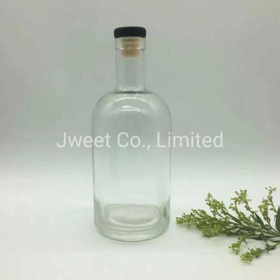 Manufactory Custom Crystal Glass Transparent 1000ml Vodka Liquor Glass Bottle
