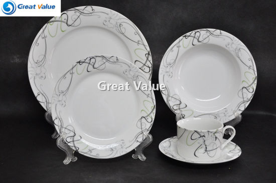 Simple Design Microwave Safe Ceramic Handmade Dinner Set & China Simple Design Microwave Safe Ceramic Handmade Dinner Set ...