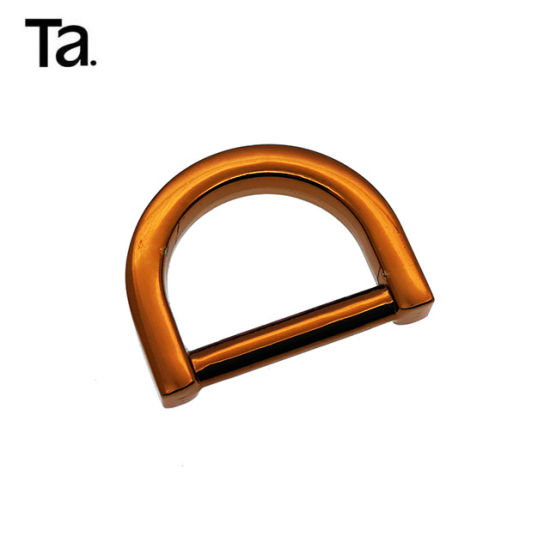 Tea Gold Popular Style Quality Metal D Rings for Handbags pictures & photos