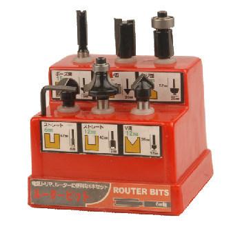 Woodworking Tools - 6PCS Tct Router Bit Set a