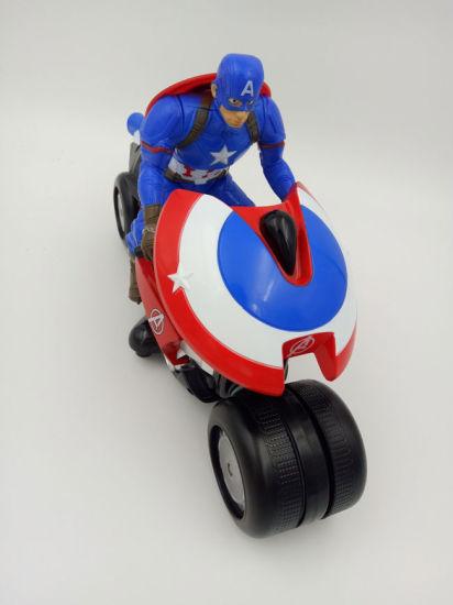 2.4GHz Captain America Mini Kids Motorcycle Two Wheels Electric Motorbike