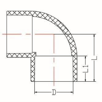 China Top Quanlity of PVC Pipe Fittings ASTM Sch80 90 Deg