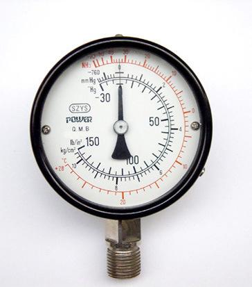 """100mm 4"""" Black Steel Case Ammonia Pressure Gauge"""