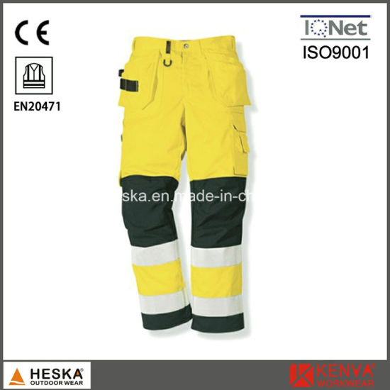 Good Quality Safety Men′s Reflective Tape Work Pants pictures & photos