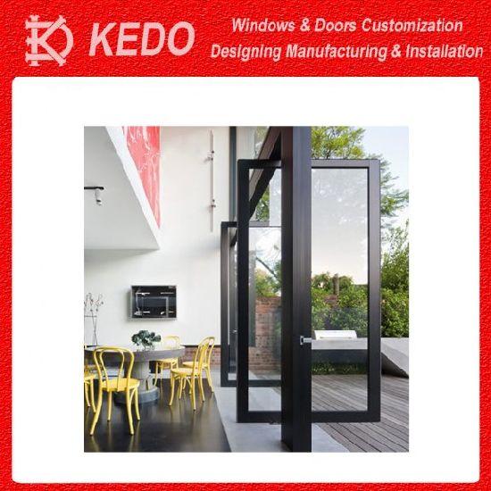 Simple Front Design Security Metal Aluminum Pivot Doors Design