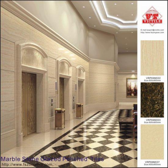 Glazed Polished Porcelain Floor Tiles