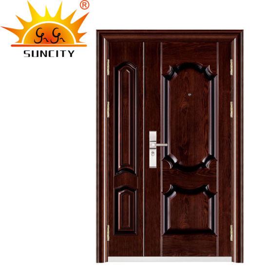 High Quality Best Price Security Exterior Steel Iron Door (SC-S077)