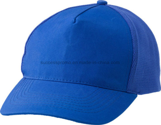100% Polyester Cap with Back Panels Made of Mesh