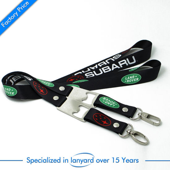 Custom Wholesale Screen Printed Polyester Lanyard as Christmas Gift pictures & photos