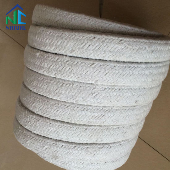 1260c Ceramic Fiber Rope with Ss Wire, with Stainless Steel and Fiberglass, Square/Round Braided Woven Rope pictures & photos