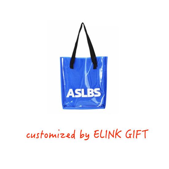 Customized Logo Waterproof Plastic PVC Shopping Bag Tote Bag Beach Bag Shoulder Bag