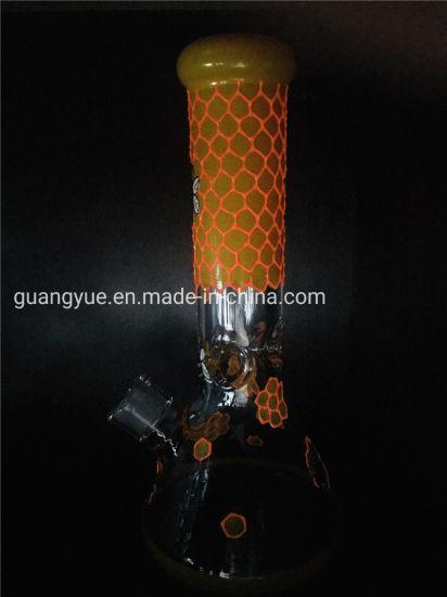 Honeycomb Glass B Ong Smoking Perc Water Recycler Pipe Smoking Rig Glowing Smoking Water Pipe