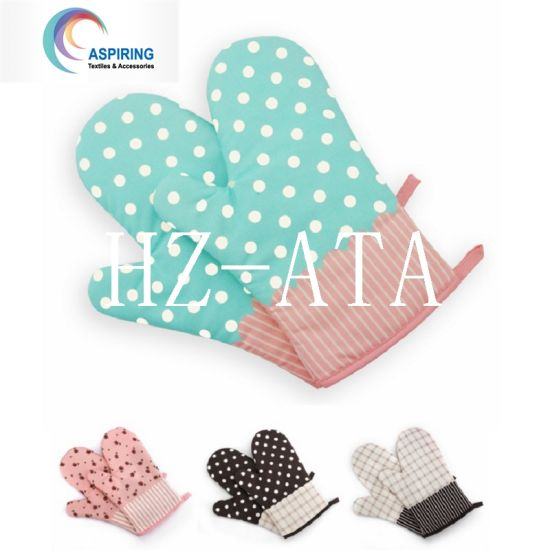 Sublimation Kitchen Cotton Oven Gloves pictures & photos