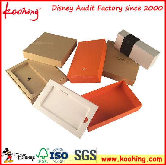 China Customizable Logo Matt Lamination Phone Packing Gift Box