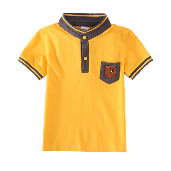 fe8791ad4d1e Boys Short Sleeve T-Shirts for Children OEM Printed T Shirt Kids Polo Shirt  with Pocket Children Clothing