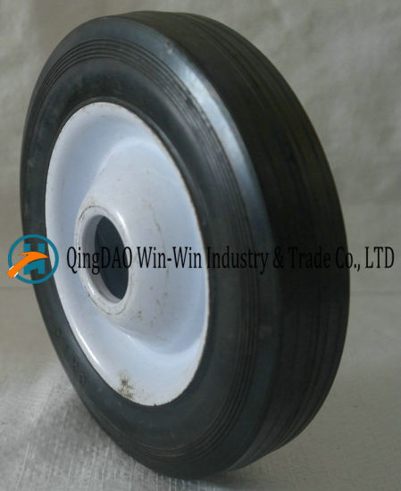 "6"" X 1.5"" Iron Rim Solid Rubber Lawnmower Wheel pictures & photos"
