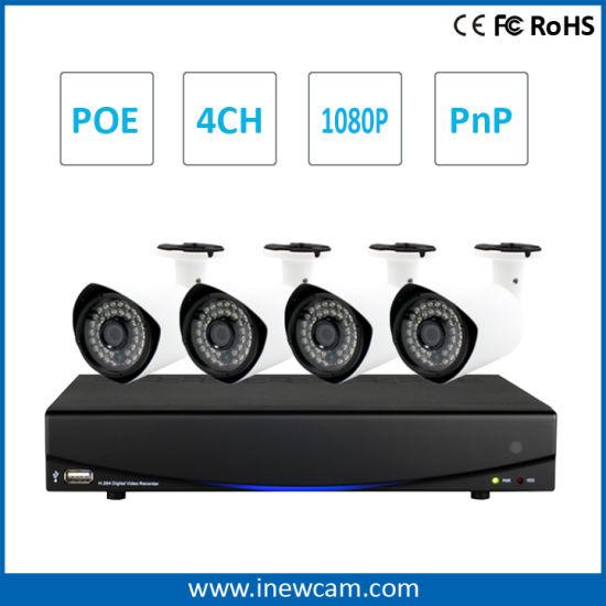1080P 4CH NVR Kit CCTV Security Camera System