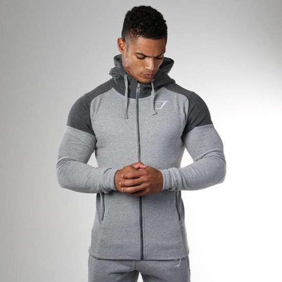 Wholesale Gym Wear Men Track Jackets pictures & photos