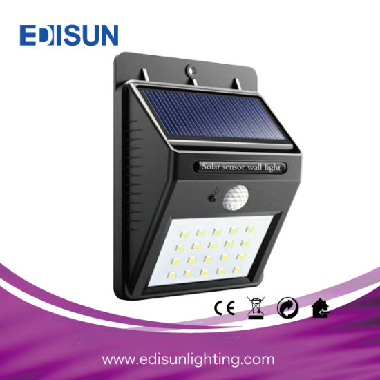 SMD LED Outdoor Solar Waterproof Motion Sensor Wall Light