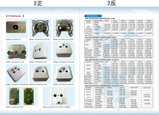 TV+Sat Wall Socket (SHJ-TWS011)) pictures & photos