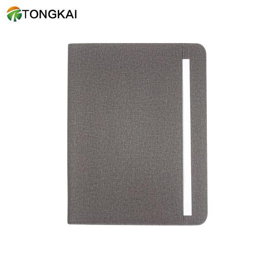 Leather Portfolio Folder with Zipper