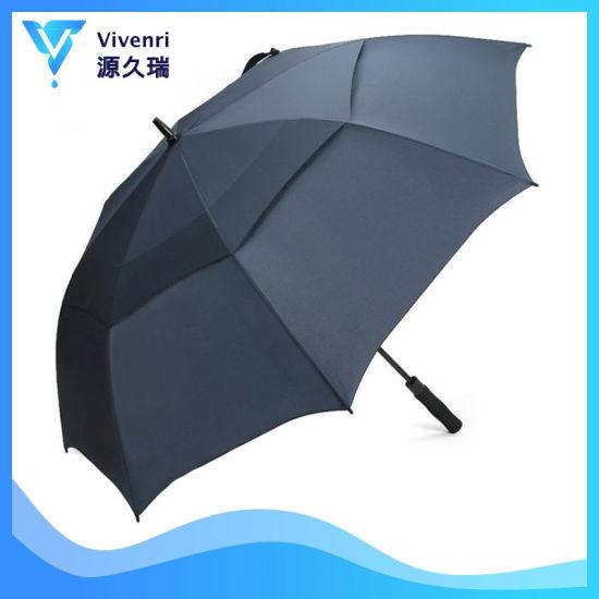 Extra Large Golf Umbrella Double Canopy Vented Square Umbrella Windproof