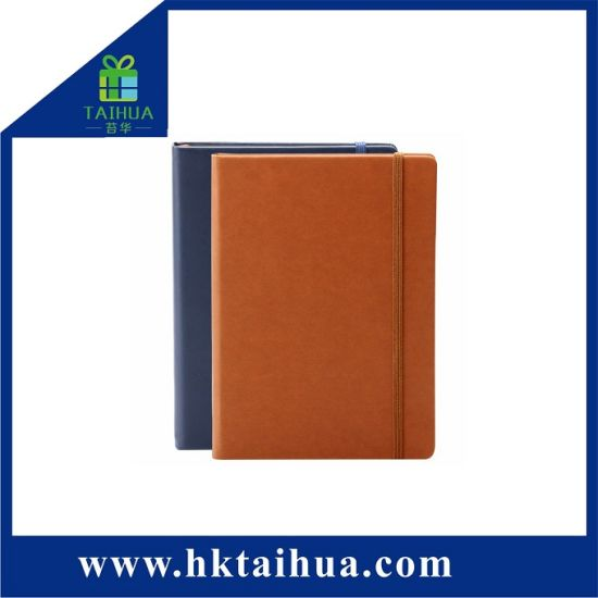 Cheap Colorful Agenda Diary A5 PU Leather Notebook with Elastic Band