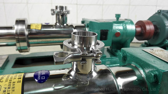 Food Grade Stainless Steel Single Screw Pump pictures & photos