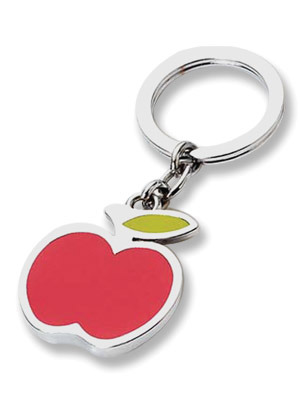 Zinc Alloy Apple Shaped Keychain for Promotion Gift