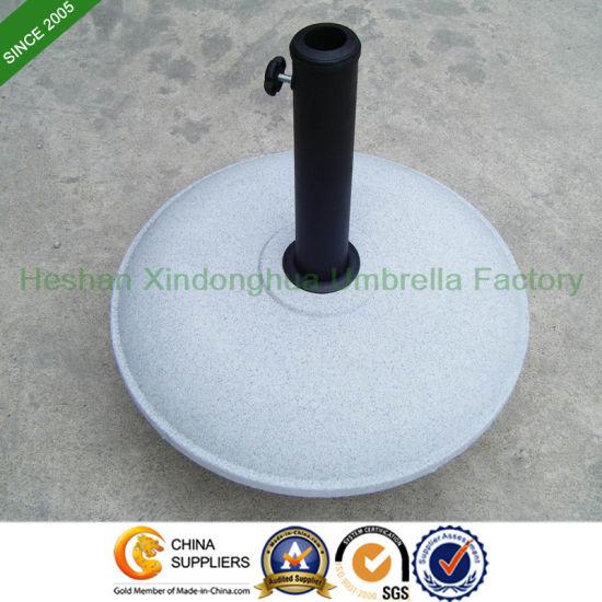 China 26kg Round Concrete Umbrella Base For Garden Umbrellas Base