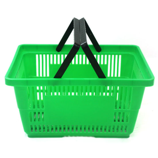 Factory Produced Sturdy Handle Plastic Portable Leak Shopping Basket