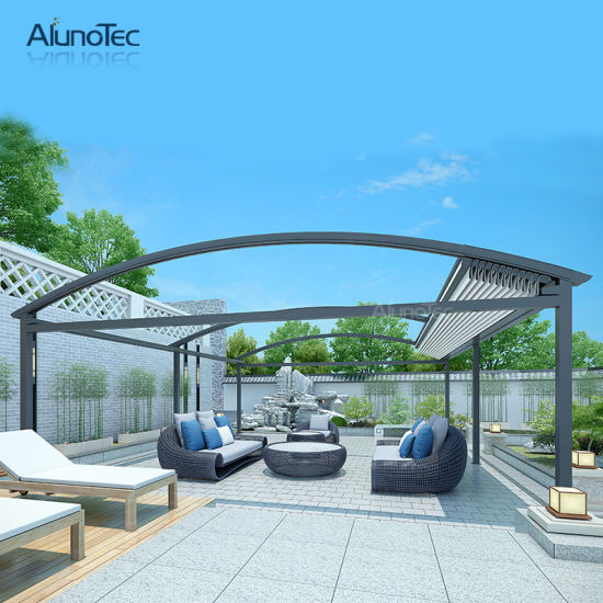 Waterproof Automatic Retractable Canopy Pergola for Living Space
