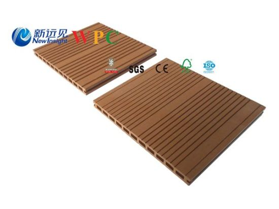 295*24mm Wood Plastic Composite Decking with CE, Fsc, SGS, Certificate