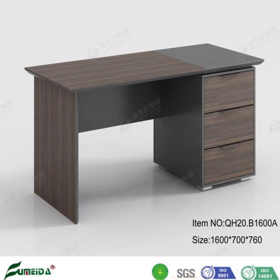 Wholesale Wooden Furniture 1.6 Meter Melamine Staff Computer Desk