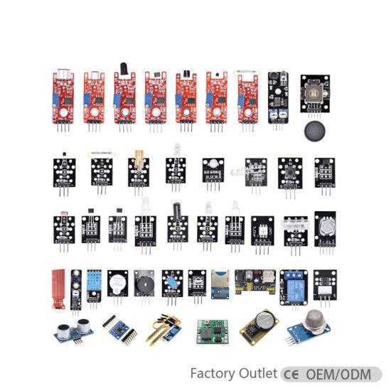 Hot Sale 45 in 1 Sensors Modules Starter Kits for Arduinos, Better Than 37 In1 Sensor Module