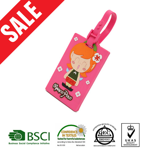 3D Rubber Bling Luggage Tags with Insert Card Backing pictures & photos
