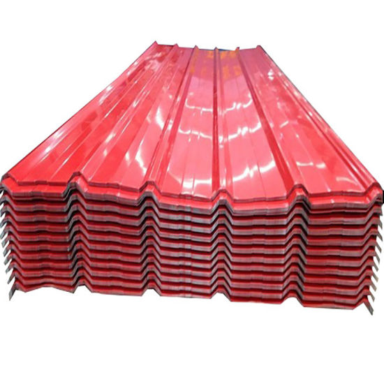 Roofing Materials PPGI Prepainted Corrugated Metal Roof Sheet