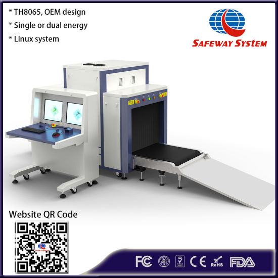 Th8065 Large Handbag, Luggage Airport Security Inspection X-ray Conveying Needle Metal Detector Scanner - Cheapest Price Cargo Inspection