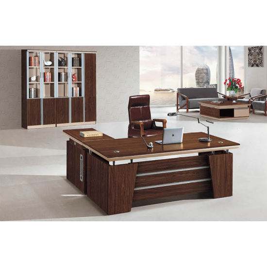 China Nice Design High Classs L Shaped Office Table China Office
