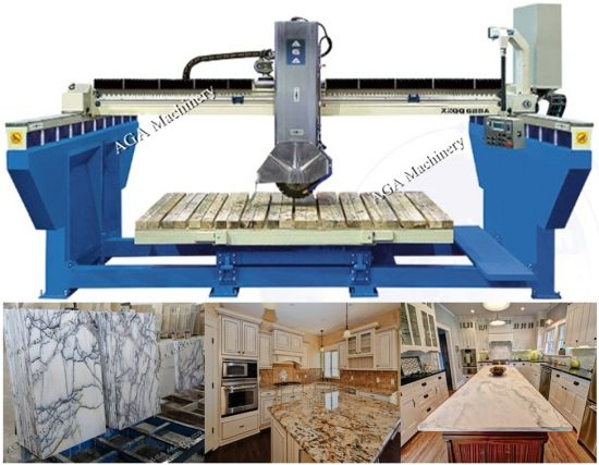 Premium Automatic Bridge Saw With 45 Angle Cut For Granite Countertop  Fabrication (XZQQ625A)