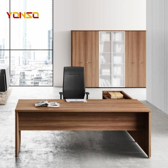 China Modular Office Furniture Nice Executive L Shaped Office Wood