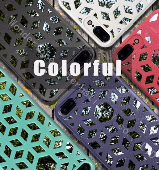 Luxury Ultra Thin Weaving Openwork Pattern Case for iPhone 8+ pictures & photos