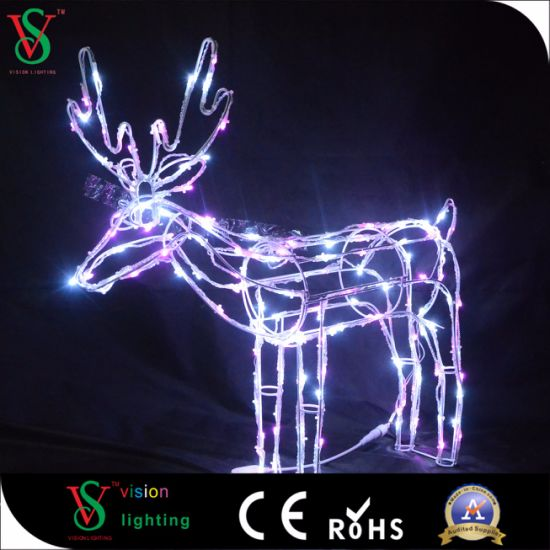 LED Christmas Animal Sulpture Motif Light for Holiday in 24V