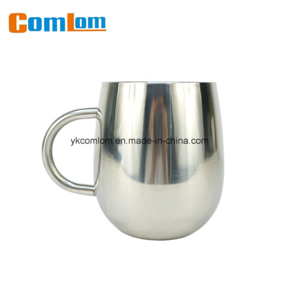 CL1C-M118 Comlom Double Wall Stainless Steel Cute Coffee Travel Mug With Handle pictures & photos