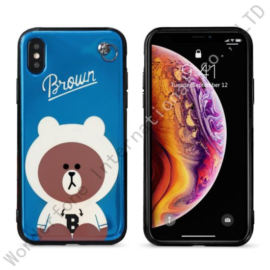 2 in 1 Animal Stand PC Phone Case for iPhone Xr